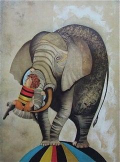 An Elephant for Kris, Original Lithograph, Graciela Boulanger