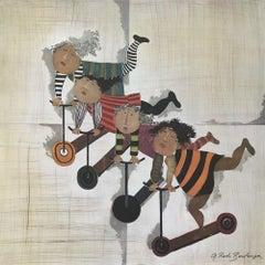Trotinettes, Lithograph, Graciela Boulanger