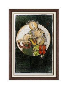 Graciela Boulanger Original Lithograph Hand Signed Music Quartet Framed Artwork
