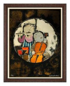 Graciela Rodo Boulanger Sonate Pour Deux Large Color Lithograph Signed Music art