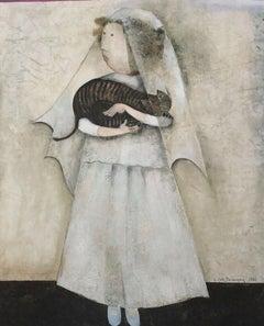 Le Chat De La Mariee, Original Lithograph, Graciela Boulanger