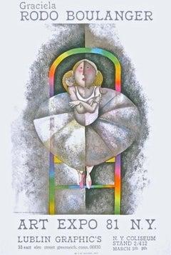 Le Petit, Original 1981 Exhibition Lithograph, Graciela Boulanger