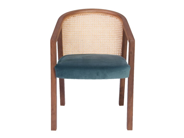 Gradeada Brazilian Contemporary Wood and Straw Chair by Lattoog In New Condition For Sale In Rio de Janeiro, RJ
