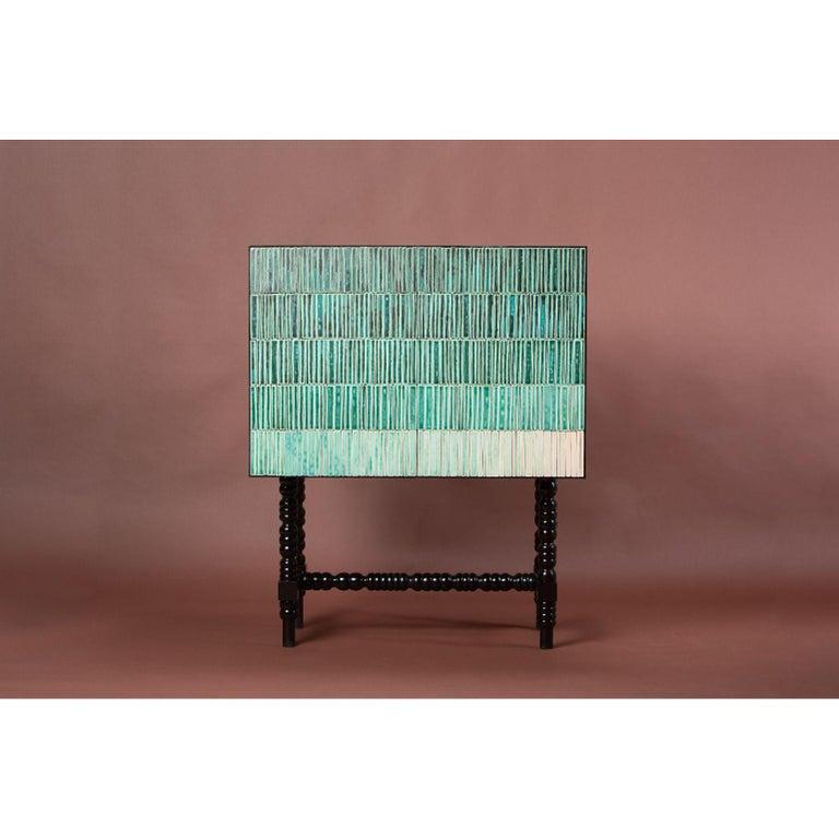 Modern Gradient Cabinet, Green by Milan Pekař, Jakub Vávra For Sale