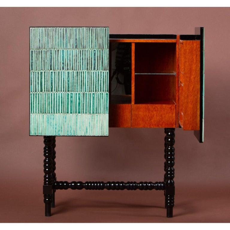 Gradient Cabinet, Green by Milan Pekař, Jakub Vávra In New Condition For Sale In Geneve, CH