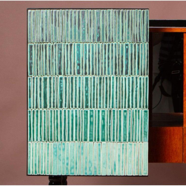 Contemporary Gradient Cabinet, Green by Milan Pekař, Jakub Vávra For Sale