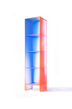 Gradient Color Glass Display Unit by Studio Buzao