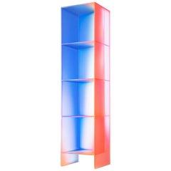 Gradient Color Glass Display Unit by Studio Buzao