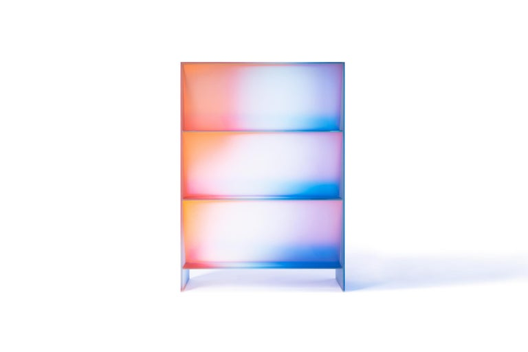 Gradient Color Glass High Display Case by Studio Buzao For Sale 6