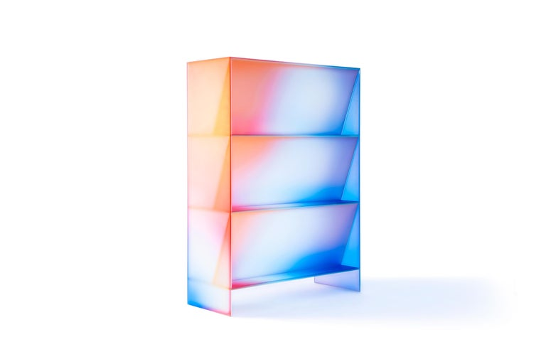 Gradient Color Glass High Display Case by Studio Buzao For Sale 8