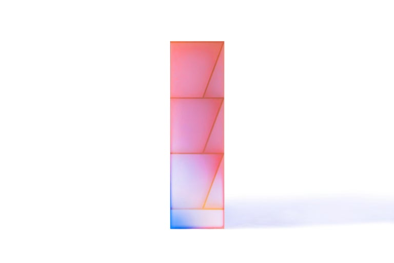 Gradient Color Glass High Display Case by Studio Buzao For Sale 10