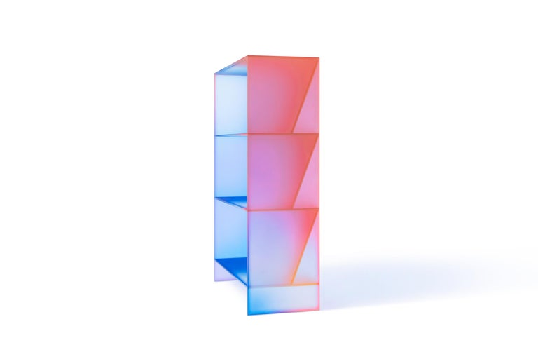 Gradient Color Glass High Display Case by Studio Buzao For Sale 11