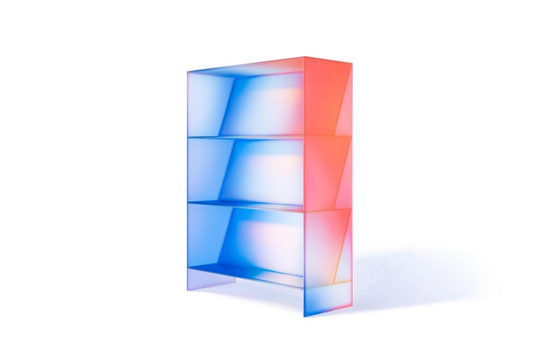 Gradient Color Glass High Display Case by Studio Buzao For Sale 12