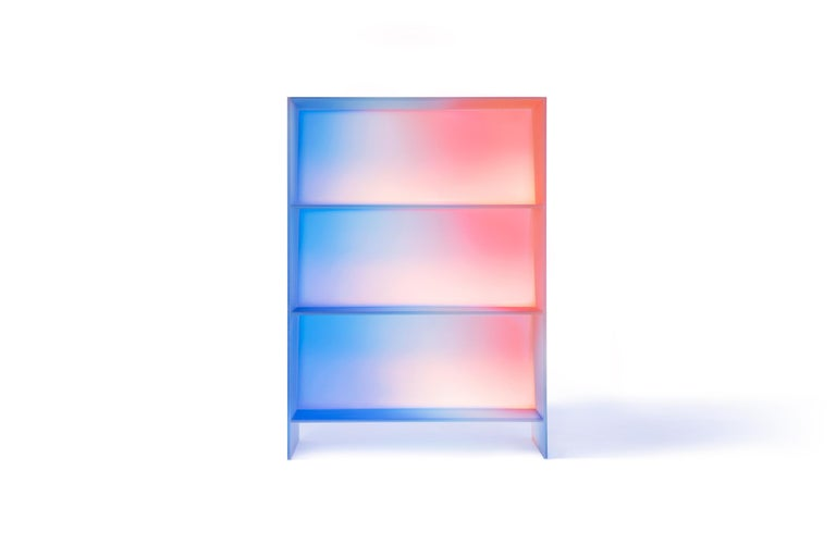 Gradient Color Glass High Display Case by Studio Buzao For Sale 13