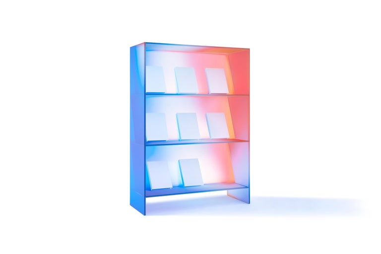 Gradient Color Glass High Display Case by Studio Buzao For Sale 14