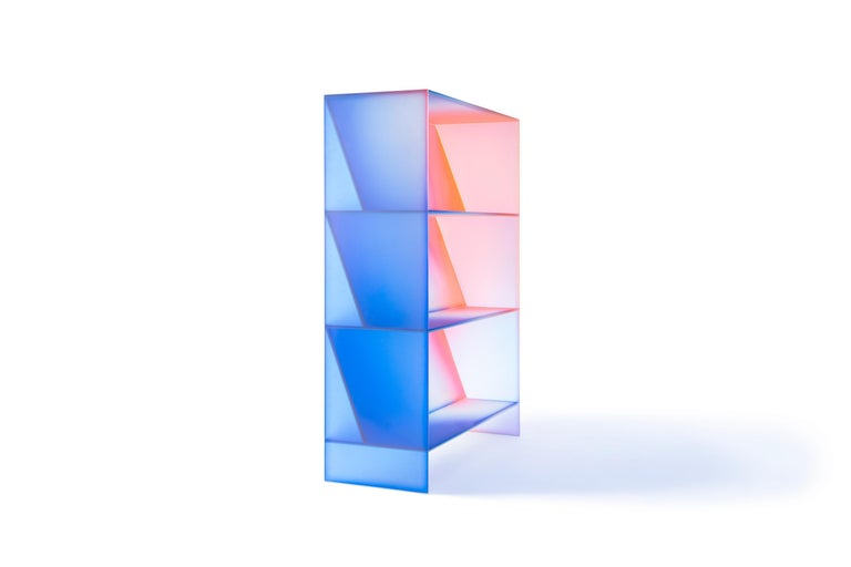 Gradient Color Glass High Display Case by Studio Buzao For Sale 1
