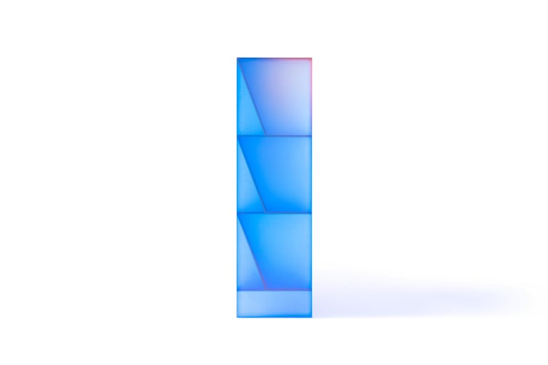 Gradient Color Glass High Display Case by Studio Buzao For Sale 2