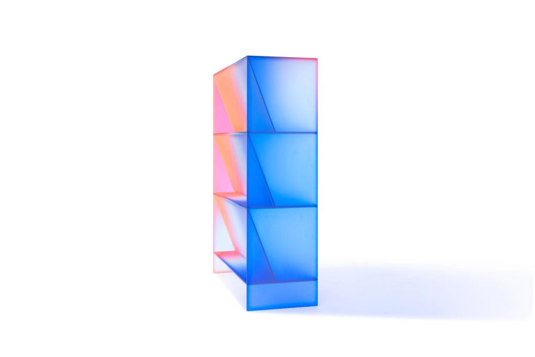 Gradient Color Glass High Display Case by Studio Buzao For Sale 3