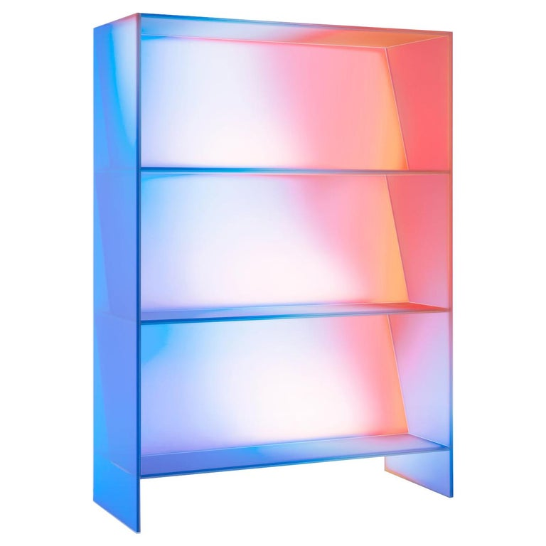 Gradient Color Glass High Display Case by Studio Buzao For Sale