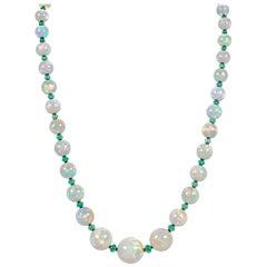 Graduated Ethiopian Opal Necklace, 490.80 Carat