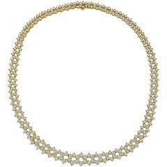 Graduated Round-Cut Diamond Link Necklace '8.28 Carat'
