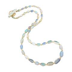 Graduated Welo Opal Nuggets Inlay Opal Toggle, Winnie Necklace