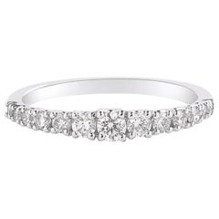 Graduating Diamond Band Ring in 18 Karat White Gold