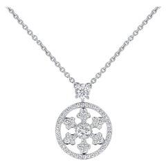 Graff 0.89 Ct. Diamond Snowflake Pendant Necklace with Original Box