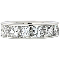 Graff 14.30 Carat Princess Cut Platinum Diamond Eternity Band