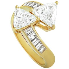 Graff 18 Karat Yellow Gold, 3.10 carat Diamond Ring