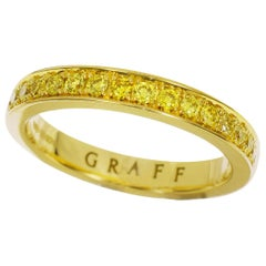 Graff 18 Karat Yellow Gold Yellow Diamonds Thread Set Eternity Ring