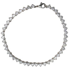 Graff 21 Carat Heart Diamond Bracelet in Platinum