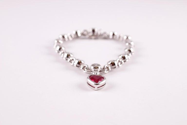 Graff 2.69 Carat Ruby and 4.50 Carat Diamond Bracelet For Sale 6