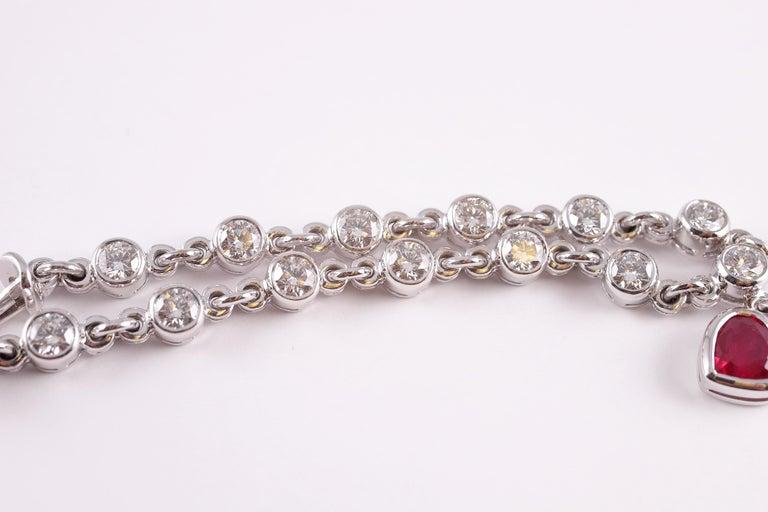 Women's or Men's Graff 2.69 Carat Ruby and 4.50 Carat Diamond Bracelet For Sale