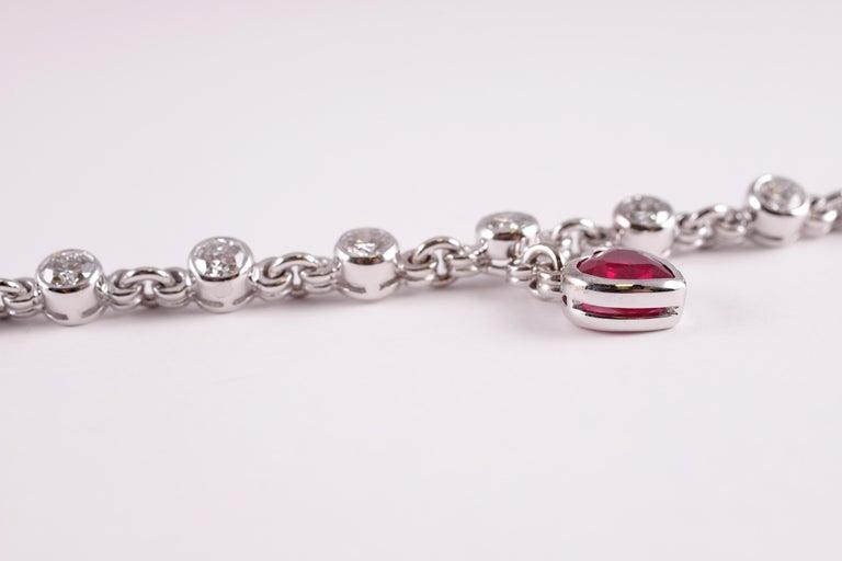 Graff 2.69 Carat Ruby and 4.50 Carat Diamond Bracelet For Sale 1