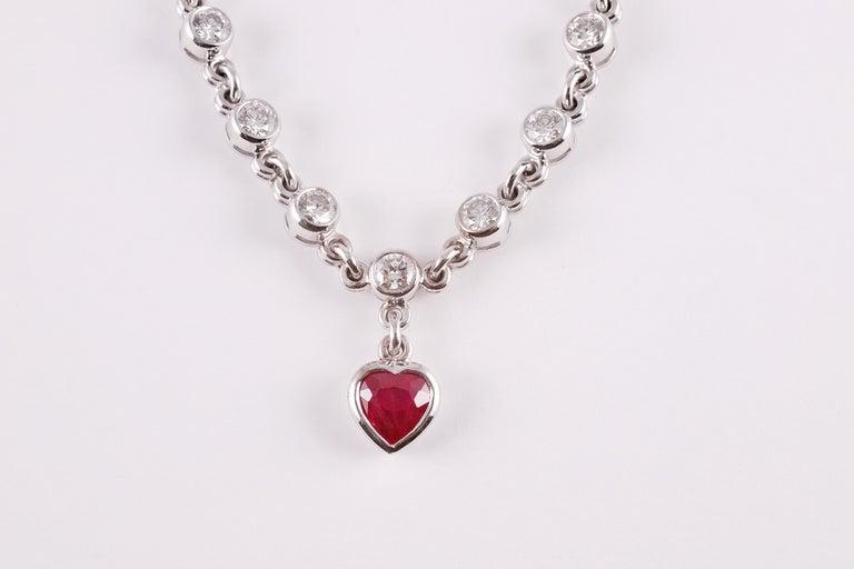 Graff 2.69 Carat Ruby and 4.50 Carat Diamond Bracelet For Sale 2