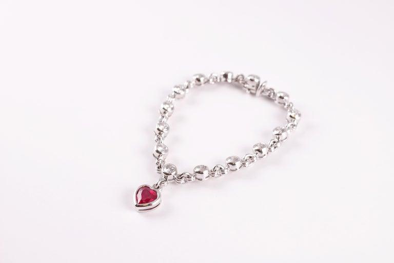 Graff 2.69 Carat Ruby and 4.50 Carat Diamond Bracelet For Sale 3