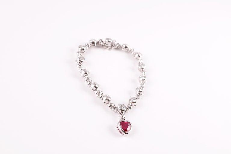 Graff 2.69 Carat Ruby and 4.50 Carat Diamond Bracelet For Sale 4