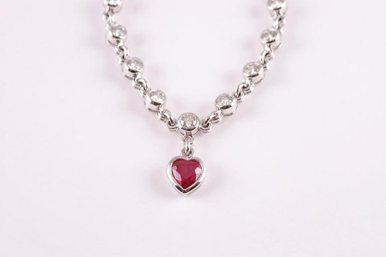 Graff 2.69 Carat Ruby and 4.50 Carat Diamond Bracelet For Sale 5
