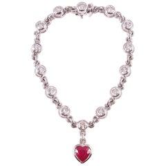 Graff 2.69 Carat Ruby and 4.50 Carat Diamond Bracelet