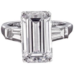 Graff 5.38 Carat Emerald Cut Diamond Ring