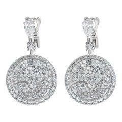 Graff 9.93 Carat Diamond Wave Earrings in 18k White Gold W/ Graff Box
