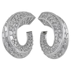 Graff Baguette Diamond Ear Clips