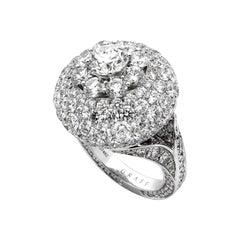 Graff Bombe Diamond White Gold Cocktail Ring