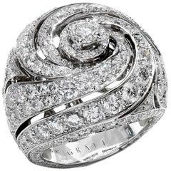 Graff Bombe White Gold Diamond Cocktail Ring