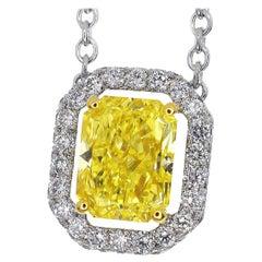 Graff Constellation Yellow Diamond 18 Karat White Gold Pendant Necklace