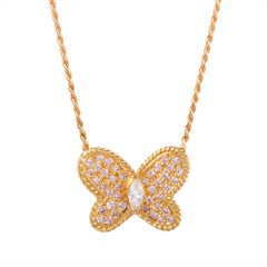 Graff Diamond and Gold Butterfly Pendant Necklace
