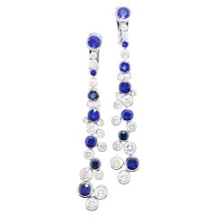 Graff Diamond and Sapphire Drop Earrings