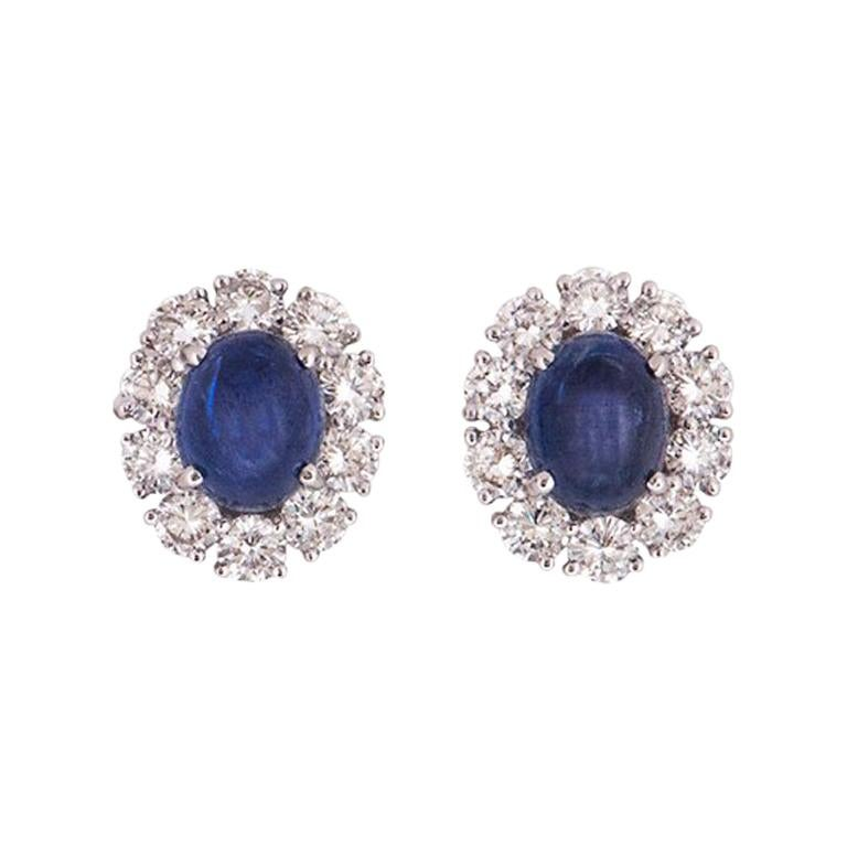 Graff Diamond and Sapphire Earrings For Sale