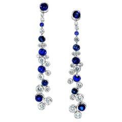 Graff Diamond and Sapphire Earrings